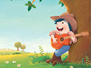 Rockstar, an illustration style for childrens' books by Tadaa Book